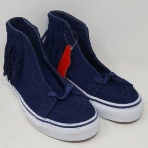 Vans Shoes | Sk8 Hi Moc Suede Tassel
